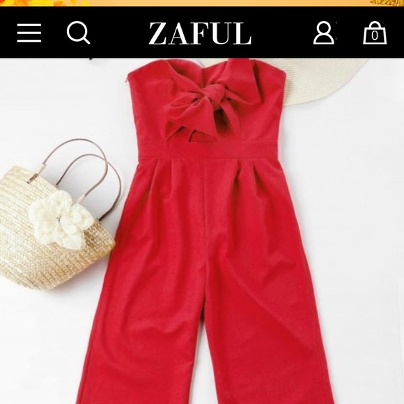 classcic superior performance top quality Bowknot Tube High Waisted Jumpsuit NWT